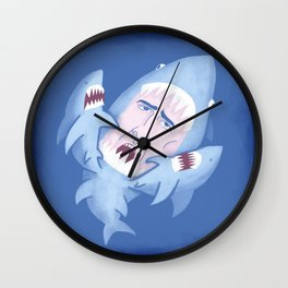 Nic Cage is Sharks! Wall Clock