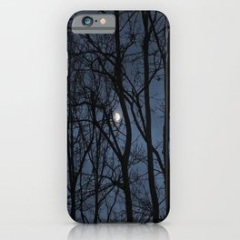 Moon captured - an illustrated poem iPhone Case