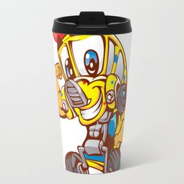 School bus cartoon Travel Mug
