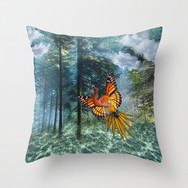 Monarch Elephish Throw Pillow