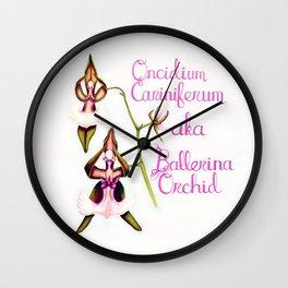 Ballerina Orchid (Wild Orchid Series II) Wall Clock