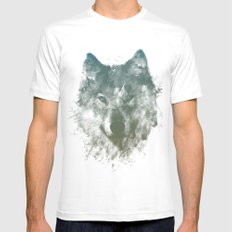 Wolf Like Me White Mens Fitted Tee LARGE