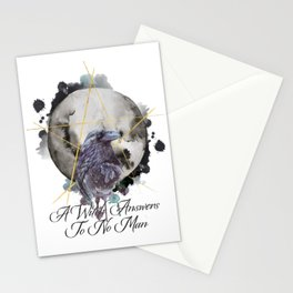 A Witch Answers To No Man Stationery Cards