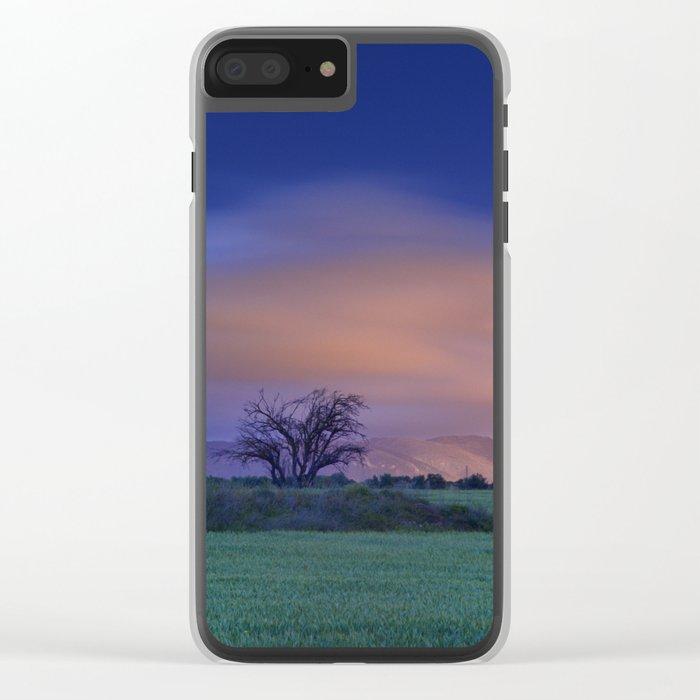 """Blue night"" Clear iPhone Case"