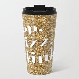 Gold Pop Fizz Clink Travel Mug