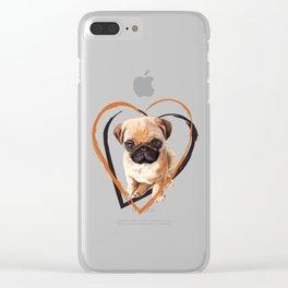 Cute Pug puppy Clear iPhone Case