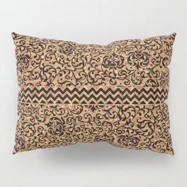 Golden Renaissance Damask Pillow Sham