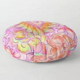 Flower Explosion Floor Pillow