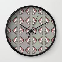 trout Wall Clocks featuring Rainbow Trout by Emi Claire Brown