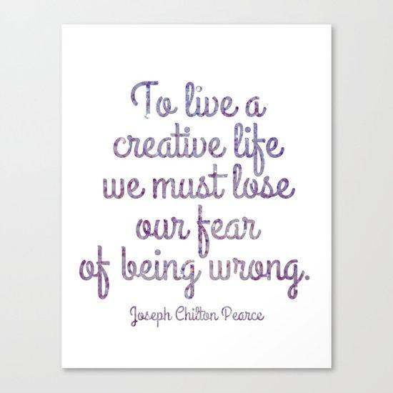 Live a Creative Life Canvas Print