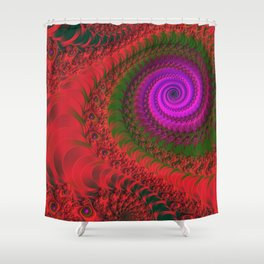 burning red -1- Shower Curtain