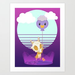 Whatever The Opposite of Up Up and Away Is Art Print