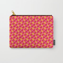 Retro floral pink Carry-All Pouch