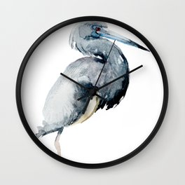 Watercolor Ciconia Painting Wall Clock