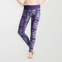If Only Sarcasm Burned Calories (Ultra Violet) Leggings