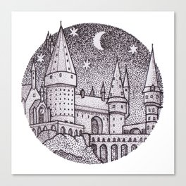 School of Witchcraft and Wizardry Canvas Print