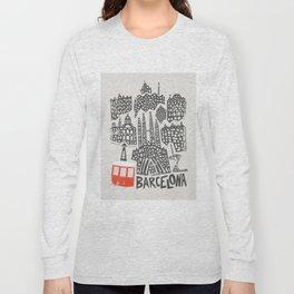 Barcelona Cityscape Long Sleeve T-shirt