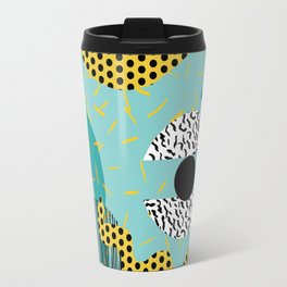 Boss - abstract 80s style memphis vibes patterns 1980's retro minimal throwback decor Travel Mug