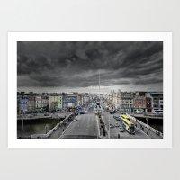 dublin Art Prints featuring Dublin by Arther Postrh