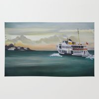 istanbul Area & Throw Rugs featuring Ferry İstanbul by ArtSchool