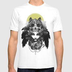 The Marquis Marchosias  MEDIUM White Mens Fitted Tee
