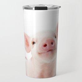 Baby Piglet Portrait Travel Mug