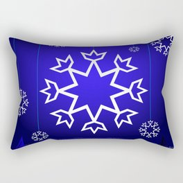 Xmas Blue with snowflake and tipi Rectangular Pillow