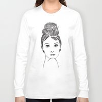 audrey Long Sleeve T-shirts featuring audrey by osvaldo