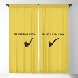 Sherlock Holmes Quote I Blackout Curtain