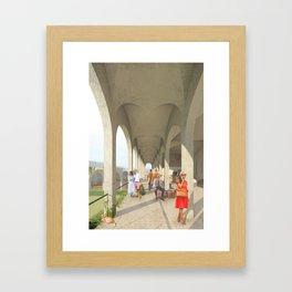 Hotel Colonnade Framed Art Print