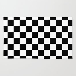 Checkered (Black & White Pattern) Rug