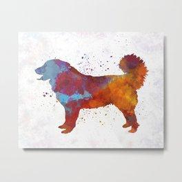 Yugoslavian Shepherd Dog in watercolor Metal Print