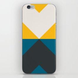 Split X Teal & Yellow iPhone Skin