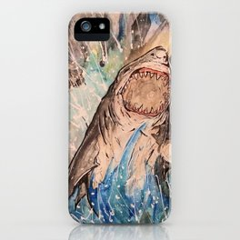 Breaching Great White iPhone Case