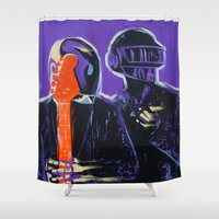 daft punk Shower Curtains featuring Daft Punk by Alexis Olin