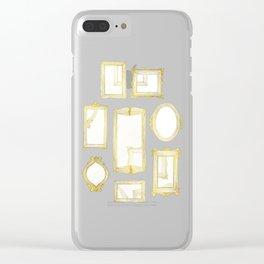Golden Frames Clear iPhone Case