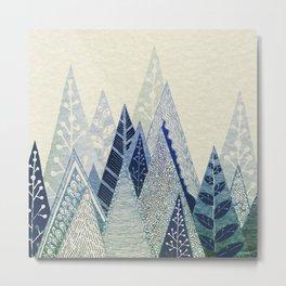Snow Top Metal Print