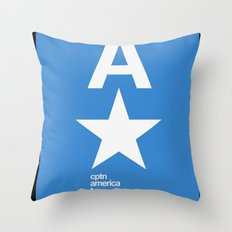 cptn america Throw Pillow