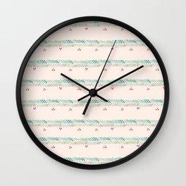 Berry Border Wall Clock