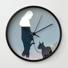 FRIENDSHIP in the space Wall Clock