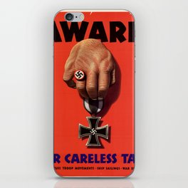 Careless Talk iPhone Skin