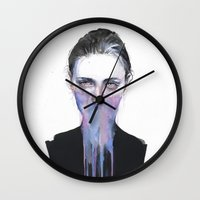 sublime Wall Clocks featuring my opinion about you by agnes-cecile
