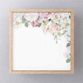 Vintage & Shabby Chic - Blush Antique Roses Frame Framed Mini Art Print