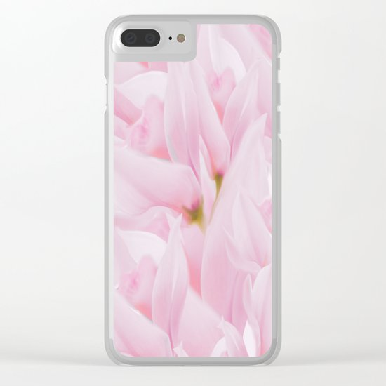 Pink petals on a light background - #Society6 #buyart Clear iPhone Case