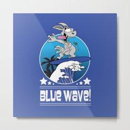 Democrat Donkey Blue Wave 2018 Midterm Voters Metal Print