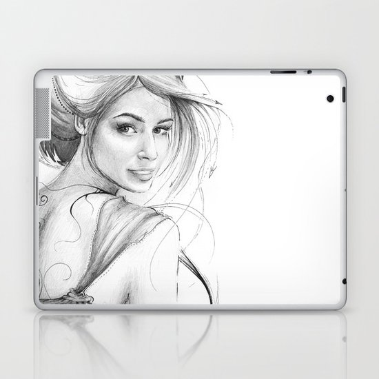 Beautiful Fairy Drawing Laptop & iPad Skin