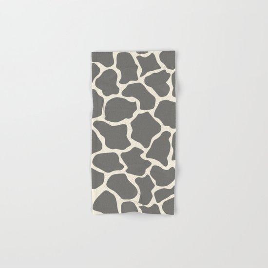 Safari Giraffe Print - Grey & Beige Hand & Bath Towel