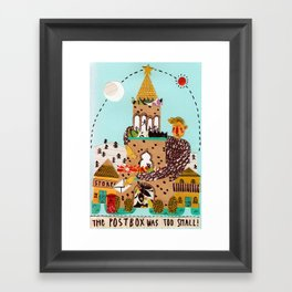 The postbox was too small! Framed Art Print