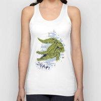crocodile Tank Tops featuring Crocodile by Sam Jones Illustration