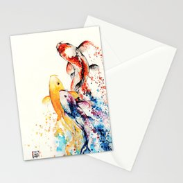 Underwater rainbow : the goldfishes Stationery Cards